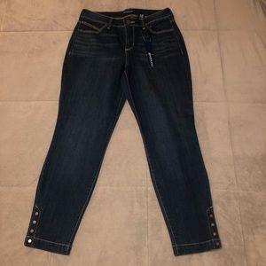 NWT Lisbeth BANDOLINO Crop skinny jeans size 4